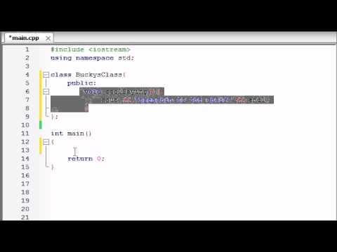 Buckys C++ Programlama Rehberler - 12 - Giriş Sınıflar Ve Nesneler