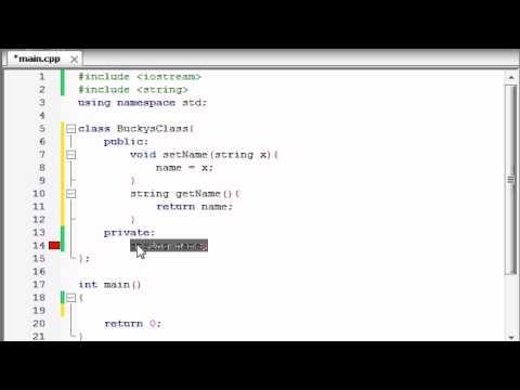 Buckys C++ Programlama Rehberler - 13 - Sınıflarda Değişkenleri Kullanma