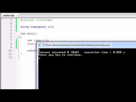 Buckys C++ Programlama Rehberler - 4 - Değişkenleri