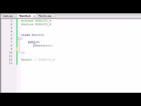 Sınıfları Ayrı Dosyalarda Yerleştirerek Buckys C++ Programlama Rehberler - 15-