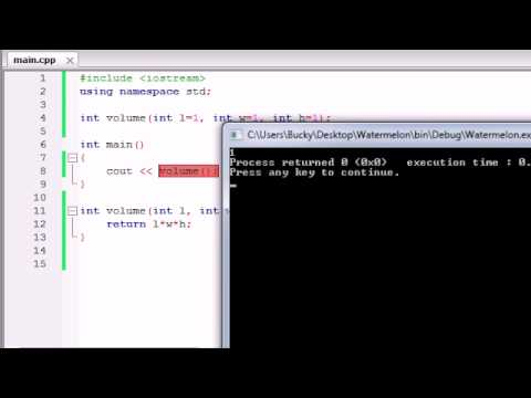 Buckys C++ Programlama Rehberler - 28 - Varsayılan Bağımsız Değişkenleri / Parametreleri