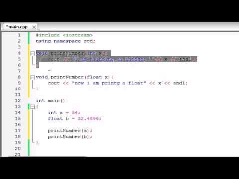 Buckys C++ Programlama Rehberler - 30 - İşlevi Aşırı Yükleme