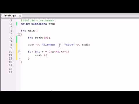 Buckys C++ Programlama Rehberler - 33 - Döngüler Kullanarak Bir Dizi Oluşturur