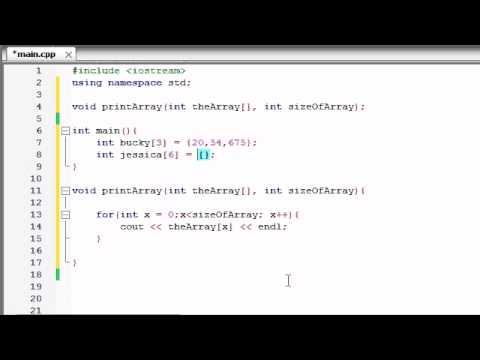 Dizi İşlevleri İçin Geçen Buckys C++ Programlama Rehberler - 35-
