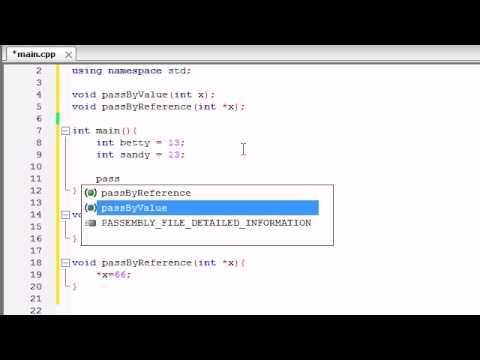 Referans İşaretçilerle Buckys C++ Programlama Rehberler - 39 - Geçmek