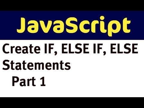 Javascript - If, Else If, Başka (Bölüm 1)