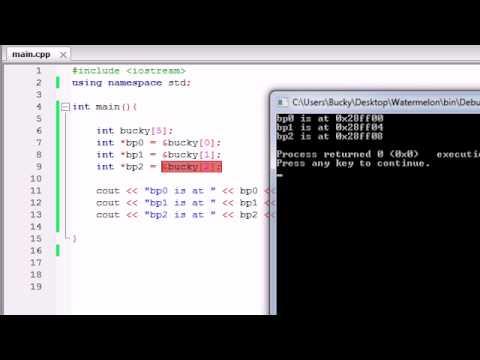 Buckys C++ Programlama Rehberler - 41 - İşaretçiler Ve Matematik