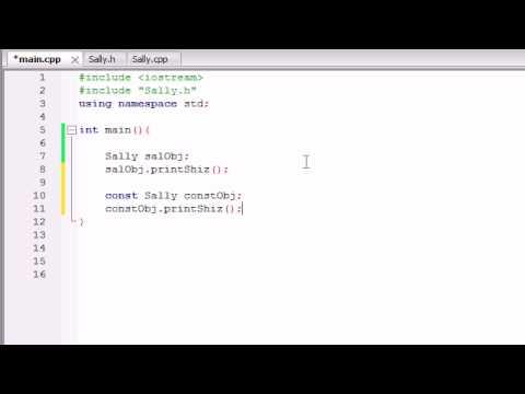 Buckys C++ Programlama Rehberler - 44 - Sabit Nesneler