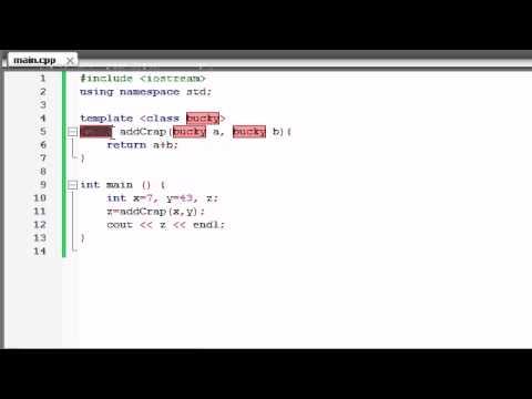 Buckys C++ Programlama Rehberler - 58 - İşlev Şablonları