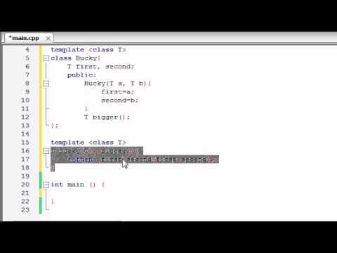 Buckys C++ Programlama Rehberler - 60 - Şablonlar Sınıf