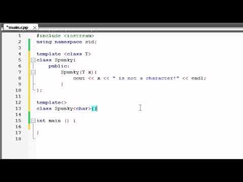 Buckys C++ Programlama Rehberler - 61 - Şablon Uzmanlıklar