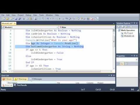 Visual Basic Eğitimi - 16 - Koşullu İşleçler