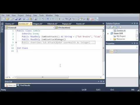 Visual Basic Öğretici - 158 - Oyun Bölüm 14 Hasar Diziler