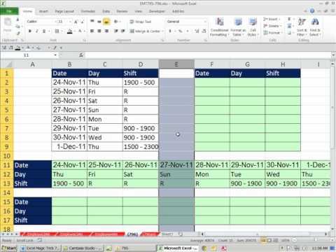 Excel 2010 Büyü Hüner 796: Excel Flip Döndürmek Tabloyu Tersine Dönüştürme Veya Dizine Özel Yapıştır