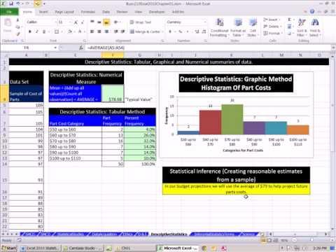 Excel 2010 İstatistik 14: Açıklayıcı Ve Çıkarımsal İstatistik
