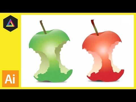Bir Vektör Elma Isırık [Bölüm 02] Oluşturmak