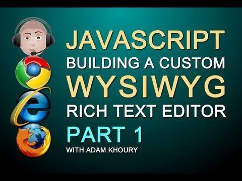 Nasıl Web Sitesi Bölüm 1 İçin Javascript Wysıwyg Zengin Metin Html Editörü Textarea Yenisini Oluşturmak İçin