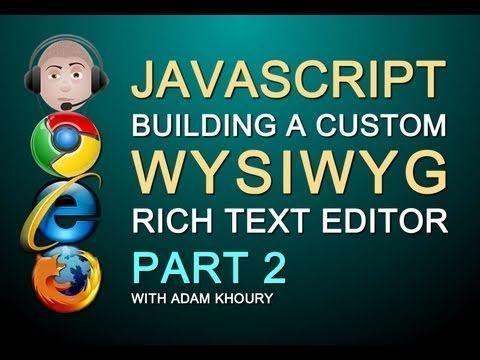 Nasıl Web Sitesi Bölüm 2 İçin Javascript Wysıwyg Zengin Metin Html Editörü Textarea Yenisini Oluşturmak İçin