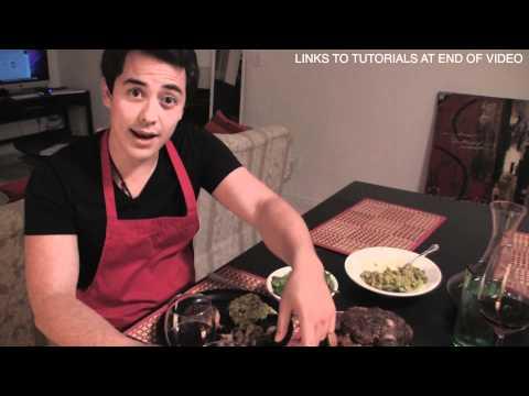 Romantik Akşam Yemeği Herhangi Bir Adam Yapabilirim! Biftek, Salata, Guacamole! Benjimantv