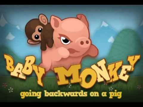 Bebek Maymun (Geriye Doğru Üzerinde A Domuz) - İphone Oyunu!
