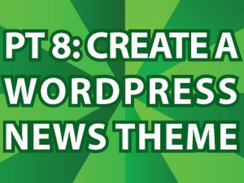 Wordpress Gazete Tema 8