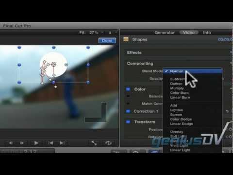 Yüz Final Cut Pro X Kullanarak Etkisi Bulanıklık