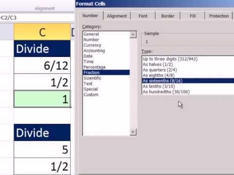 Excel 2010 İş Matematik 20: Teksir Makinesi Ve Kesirler Bölme