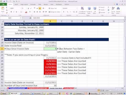 Excel 2010 İş Matematik 63: Tarihi Matematik Faturalar İçin