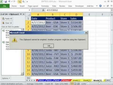 Excel Sihir Numarası 832: Kopyala, Yapıştır Ve Pano İle Tabloları Birleştirme