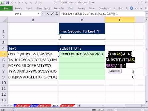 """Excel Sihir Numarası 847: Sondan Bir Önceki """"g"""" Bulunduğu Bir Metin Dizesi"""