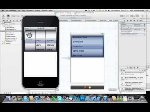 Xcode 4.2 Uıpıckerview - Nsmutable Dizisi - Bölüm 1