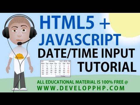 Html5 + Javascript Tarih Saat Giriş Türleri Öğretici Tarih Oluşturmak Ve Alanları Zaman