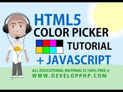 Html 5 Öğretici Renk Seçici Giriş İle Javascript Ajax Form İşleme İpuçları