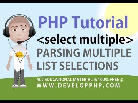 Php Eğitimi Ayrıştırmak Çok Seçin Html Form Alanları - Developphp Nokta Com