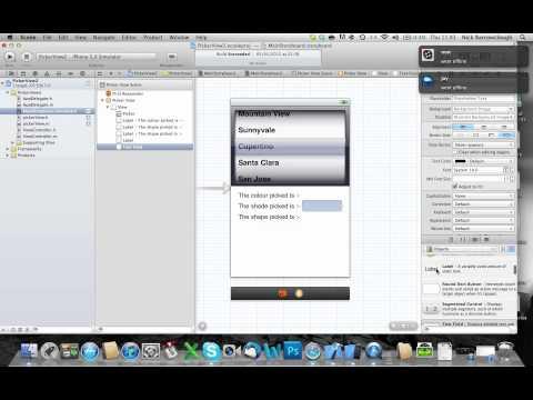 Xcode 4.2 Uıpickerview Nsmuttable Dizisi - Bölüm 2