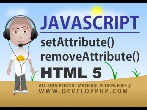 Javascript Setattribute Removeattribute Yöntemleri Eğitimi