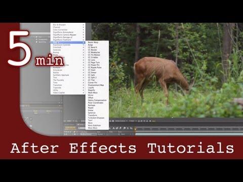 After Effects Tutorıal: Etkileri Ve Animasyon Efektleri Derste Sonra Çalışma