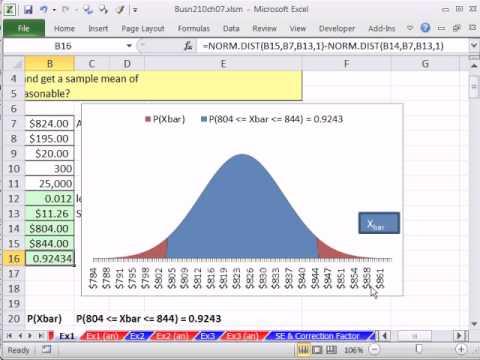 Excel 2010 İstatistik 69: Hata Payı W / Ortalama Örnek Olasılık Oluşur (3 Örnekler)