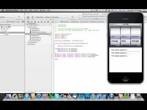 Xcode 4.2 Uıpickerview Nsmuttable Dizisi - Bölüm 3