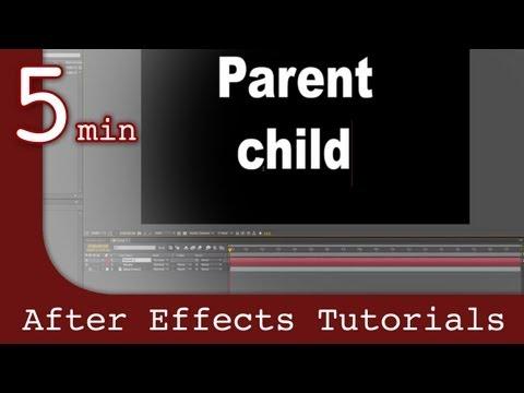 Effects Tutorıal Sonra: Öncesi Comps Ve Ebeveynlik Etkileri Ders Sonra