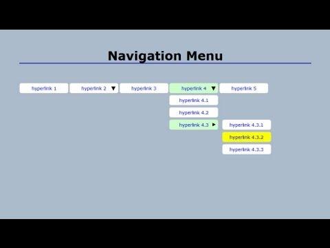 Basamaklı Açılan Navigasyon Menü Css (Bölüm 2) İle