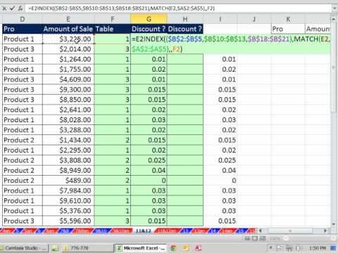 Dizin Ve Maç Fonksiyonları Gelişmiş 19 Örnekler İçin Acemi (Excel Düşeyara Hafta Video #3)