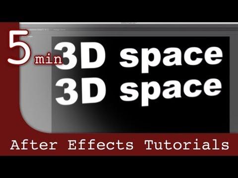 After Effects Tutorıal: Sonra Etkileri Derste 3D Space İle Çalışma