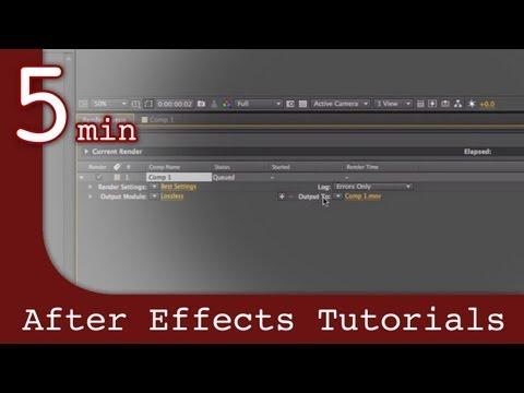 After Effects Tutorıal: İçinde Etkileri Dersten Sonra İşleme
