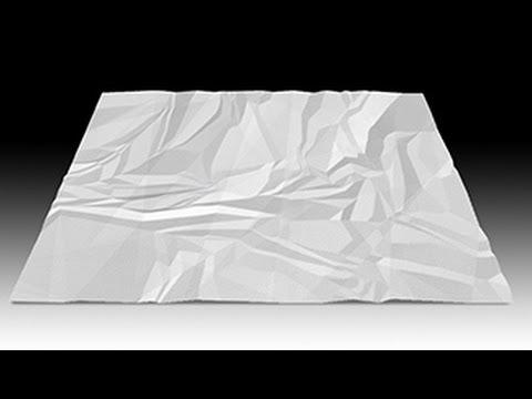 Photoshop: Nasıl Sıfırdan Buruşuk Kağıt Yapmak