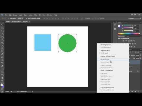 Photoshop Tutorial: Cs6 Birleştirme Şekli Katmanlı Vektör Özellikleri - Hd Korumak İçin-