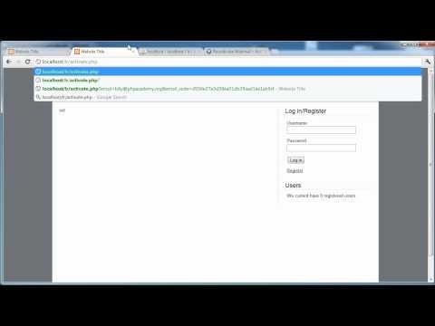 Php Tutorials: Kayıt Ve Giriş (Bölüm 14): E-Posta Etkinleştirme (Bölüm 4)