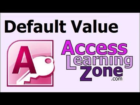 Microsoft Access Eğitimi Varsayılan Değer Kullanma