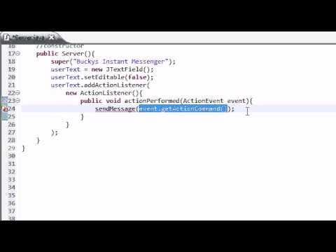 Orta Java Öğretici - 39 - Guı Bucky Instant Messenger İçin