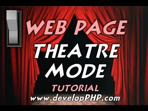 Öğretici Css Javascript Işık Anahtarı Değiştir Karanlık Kaplama Web Sayfası Tiyatro Modu